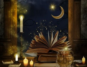 books-and-candles-stardust-moon