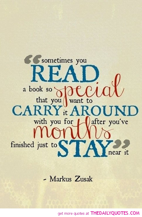 Read A Book So Special Carry Around Months